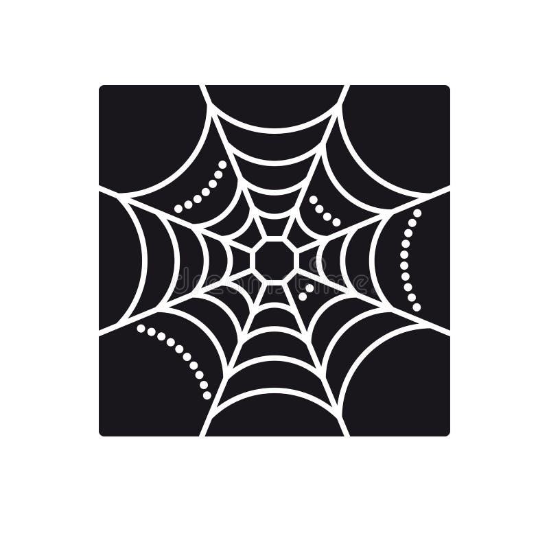 Icône vectorielle Cobweb illustration stock