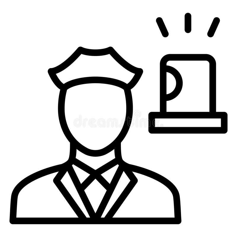 Icône vectorielle isolée Cop qui peut facilement modifier ou modifier illustration de vecteur