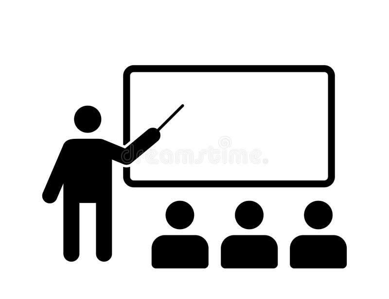 Icône vectorielle isolée pour la formation Icône Séminaire de formation Icône Blackboard Symbole vectoriel de l'icône de la confé illustration libre de droits