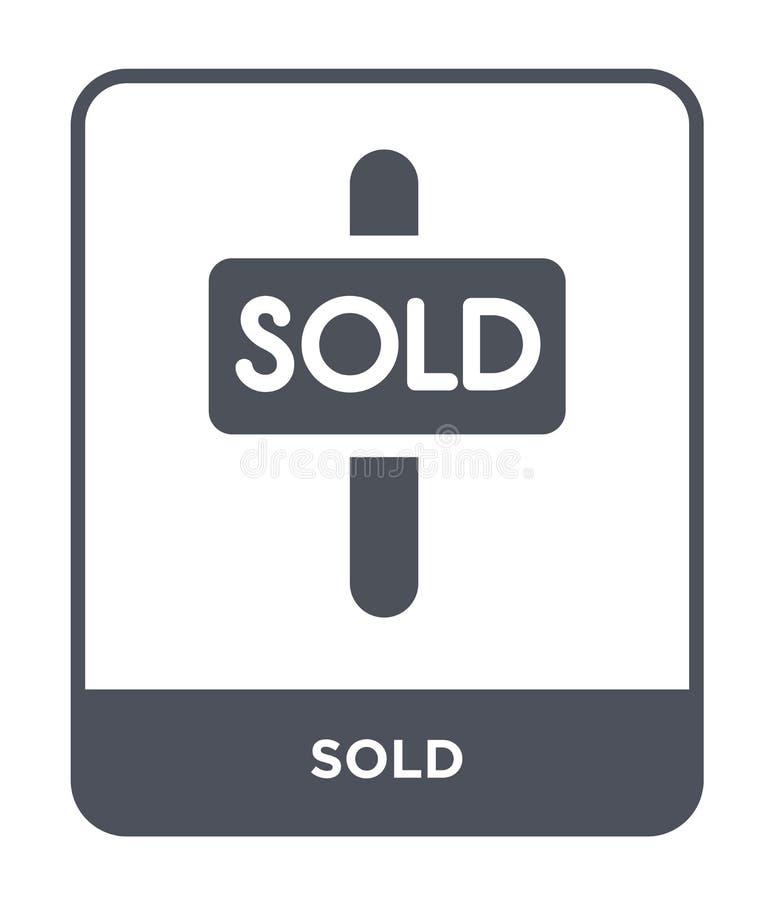 icône vendue dans le style à la mode de conception icône vendue d'isolement sur le fond blanc symbole plat simple et moderne d'ic illustration libre de droits