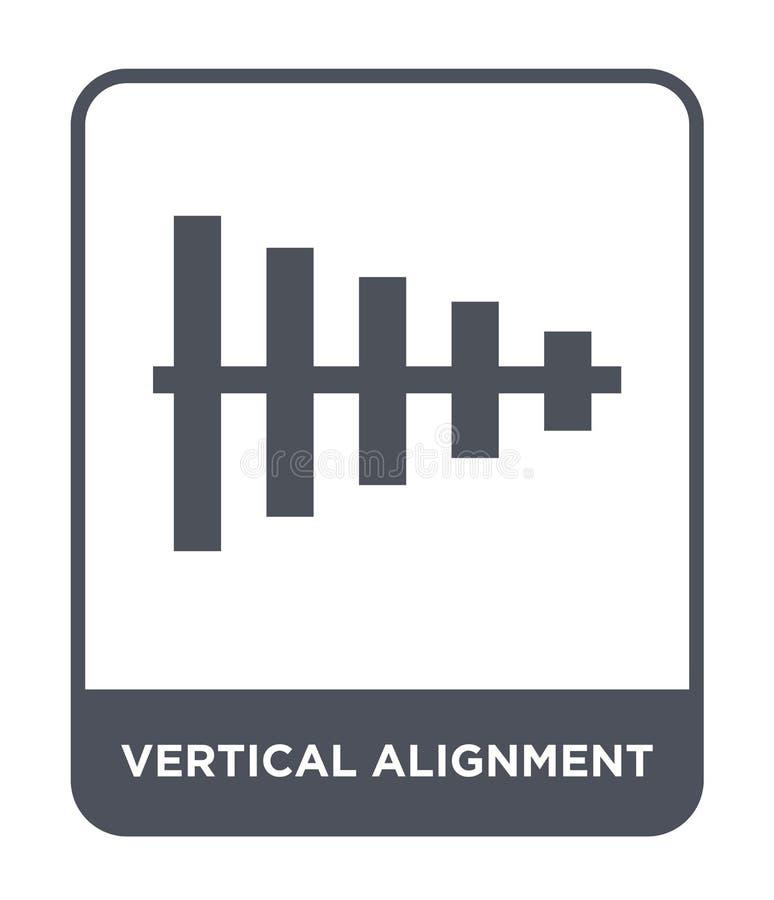 icône verticale d'alignement dans le style à la mode de conception icône verticale d'alignement d'isolement sur le fond blanc vec illustration stock