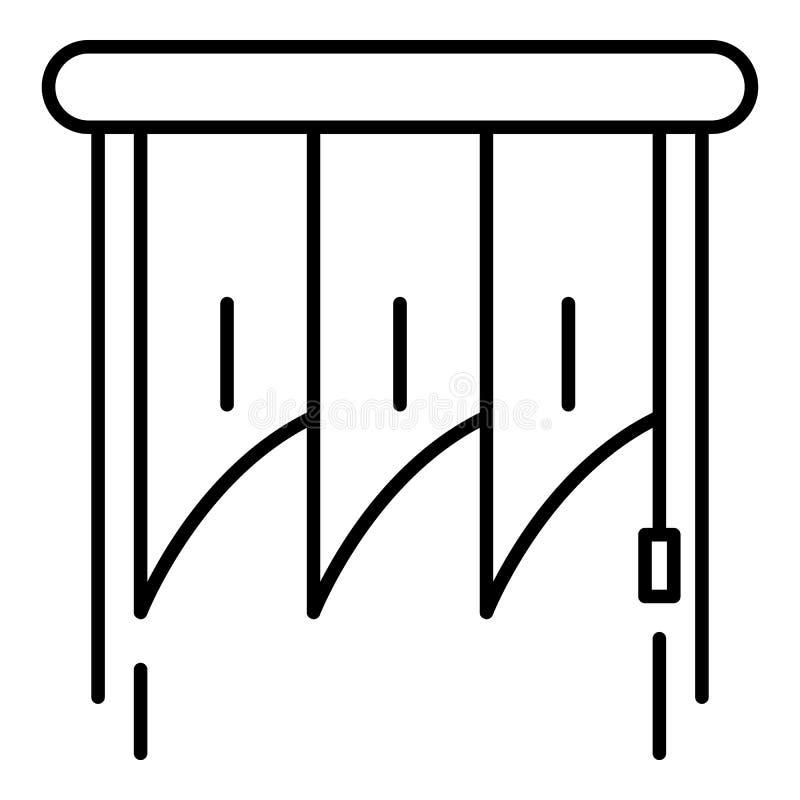 Icône verticale intérieure d'auvents, style d'ensemble illustration de vecteur