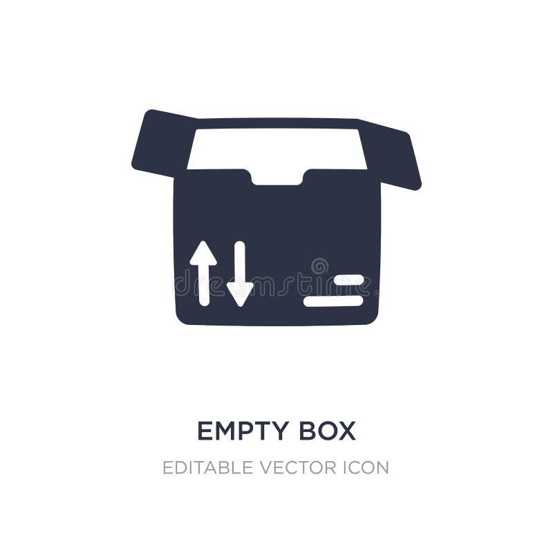 icône vide de boîte sur le fond blanc Illustration simple d'élément de concept d'affaires illustration libre de droits