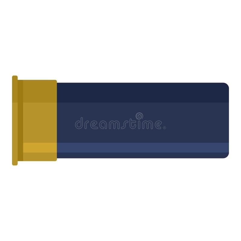 Icône vide de coquille de cartouche, style plat illustration libre de droits