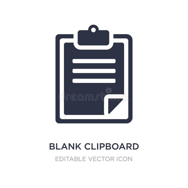 icône vide de presse-papiers sur le fond blanc Illustration simple d'élément de concept d'éducation illustration de vecteur