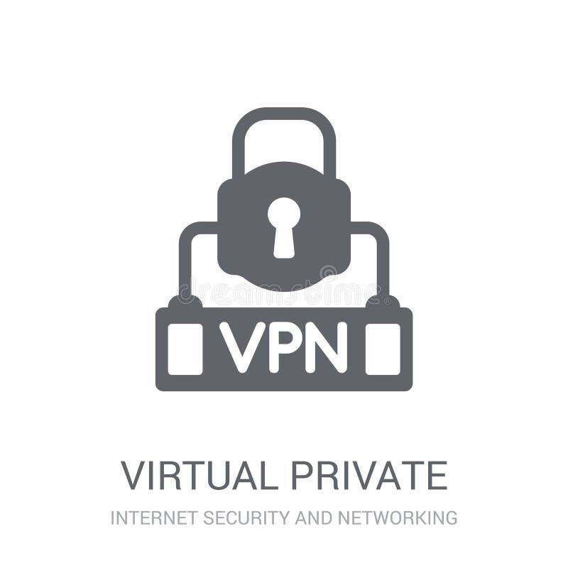 Icône virtuelle de réseau privé  illustration libre de droits