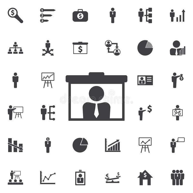 Icône visuelle de présentation d'appel illustration libre de droits