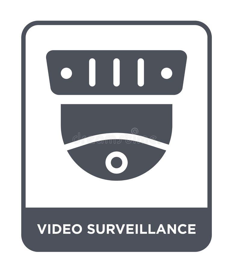 icône visuelle de surveillance dans le style à la mode de conception icône visuelle de surveillance d'isolement sur le fond blanc illustration libre de droits