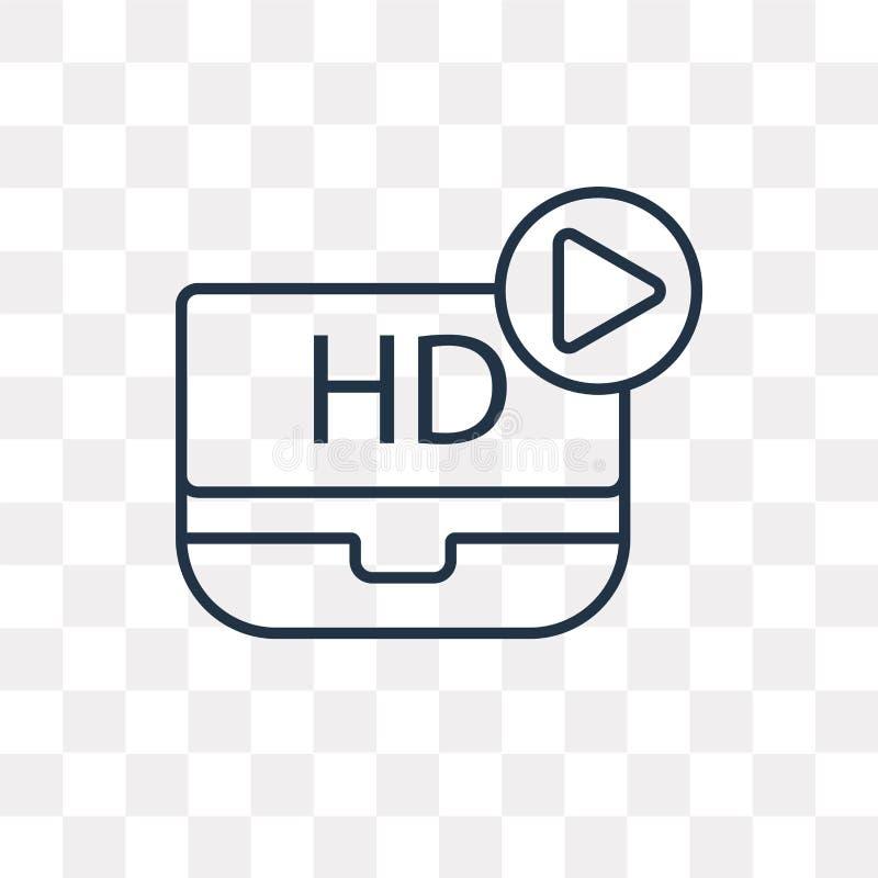 Icône visuelle de vecteur de HD d'isolement sur le fond transparent, linéaire illustration libre de droits