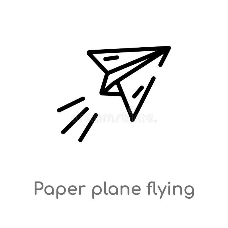 icône volante plate de vecteur de note de synthèse r editable illustration de vecteur