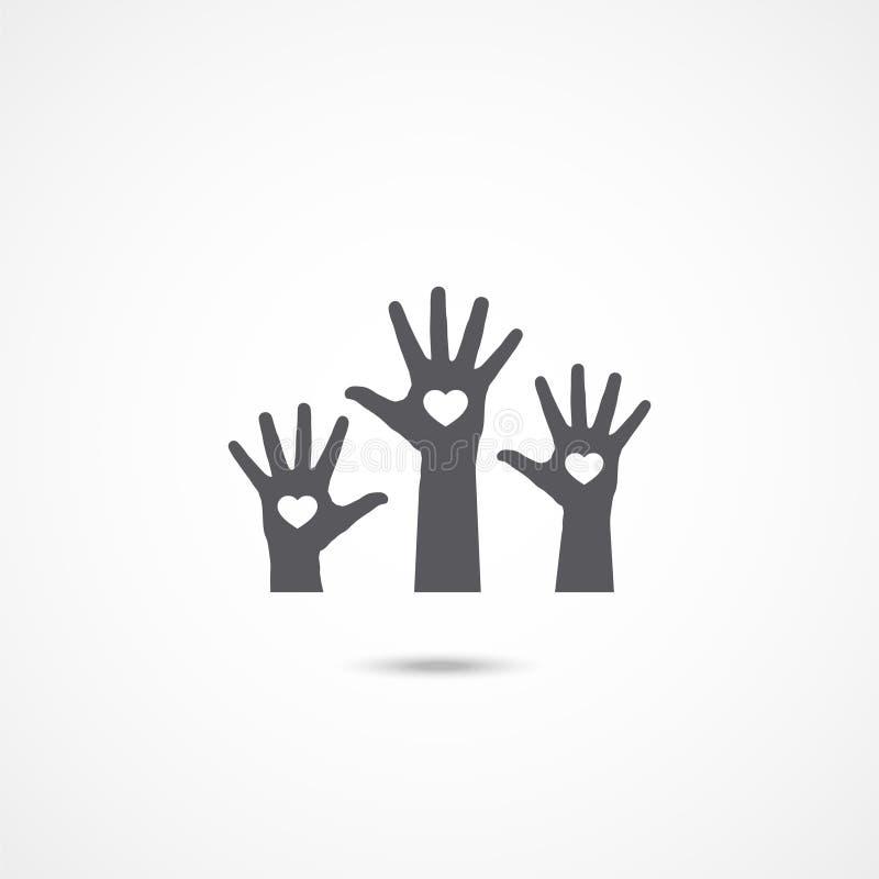Icône volontaire sur le blanc illustration libre de droits