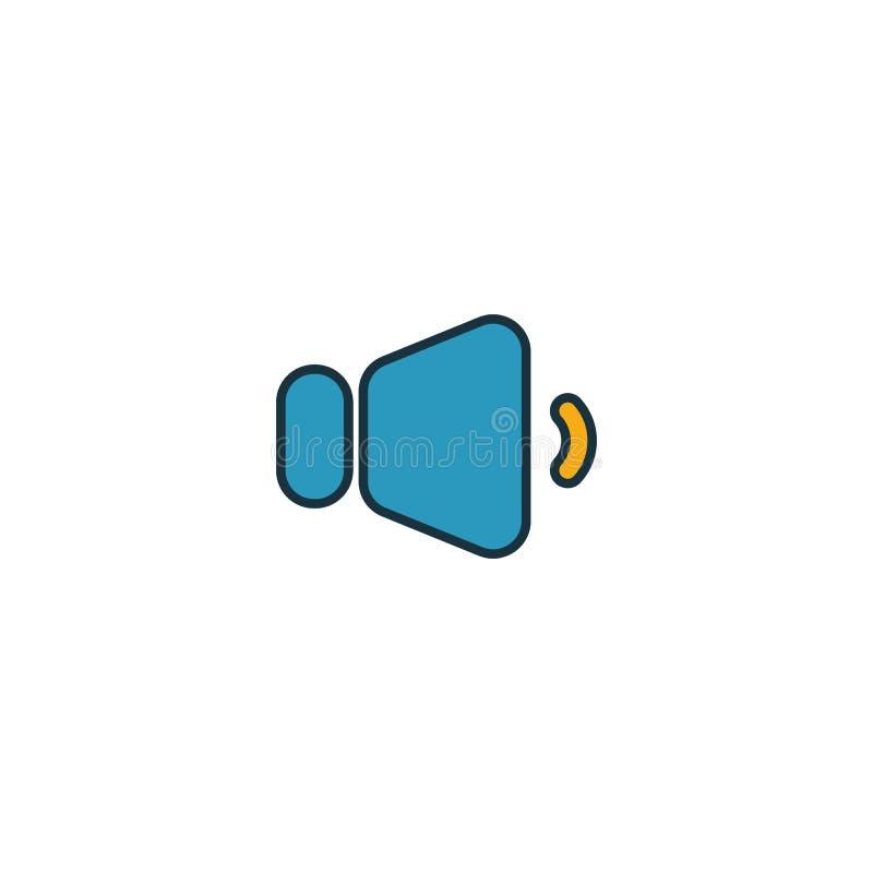 Icône Volume Down Elément créatif rempli à partir de la collection d'icônes de boutons audio Icône de volume vers le bas Premium  illustration libre de droits