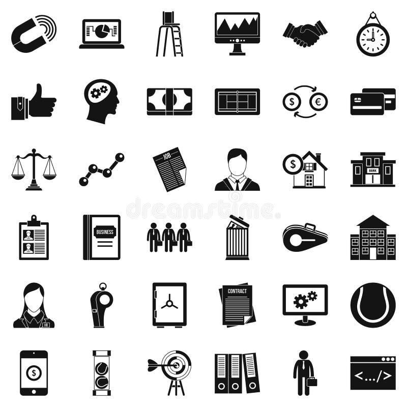 Icônes économiques d'association réglées, style simple illustration de vecteur