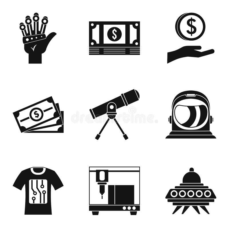 Icônes élevées d'adaptabilité réglées, style simple illustration stock