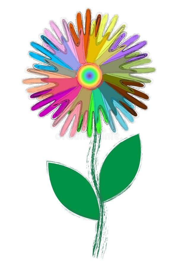 Icônes colorées des mains des personnes, comme des pétales de fleur, concept d'unité, aide mutuelle, fraternity, équipe illustration libre de droits