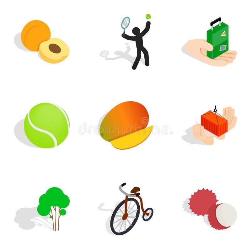 Icônes d'agilité réglées, style isométrique illustration de vecteur