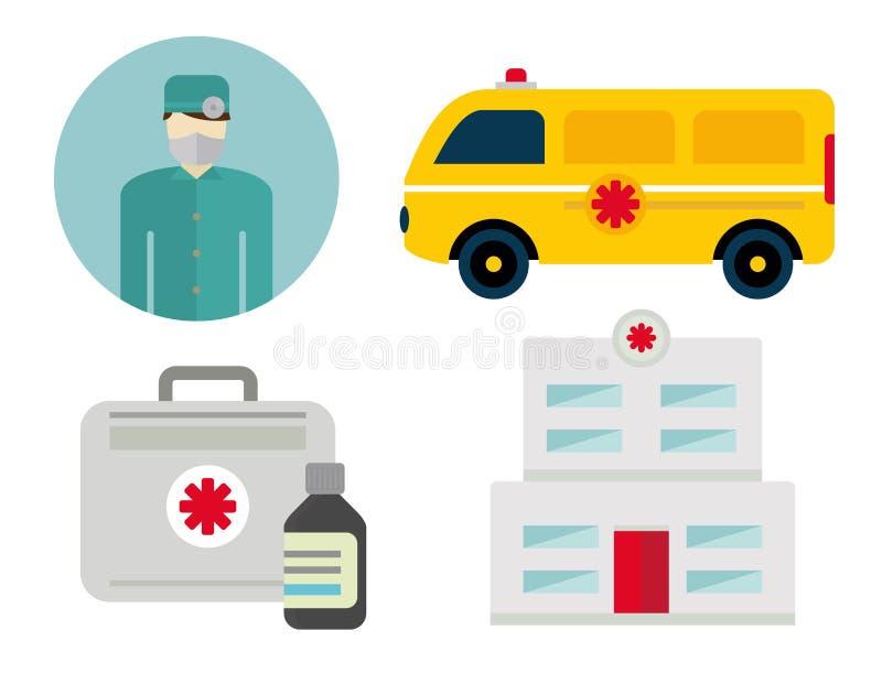 Icônes d'ambulance illustration de vecteur