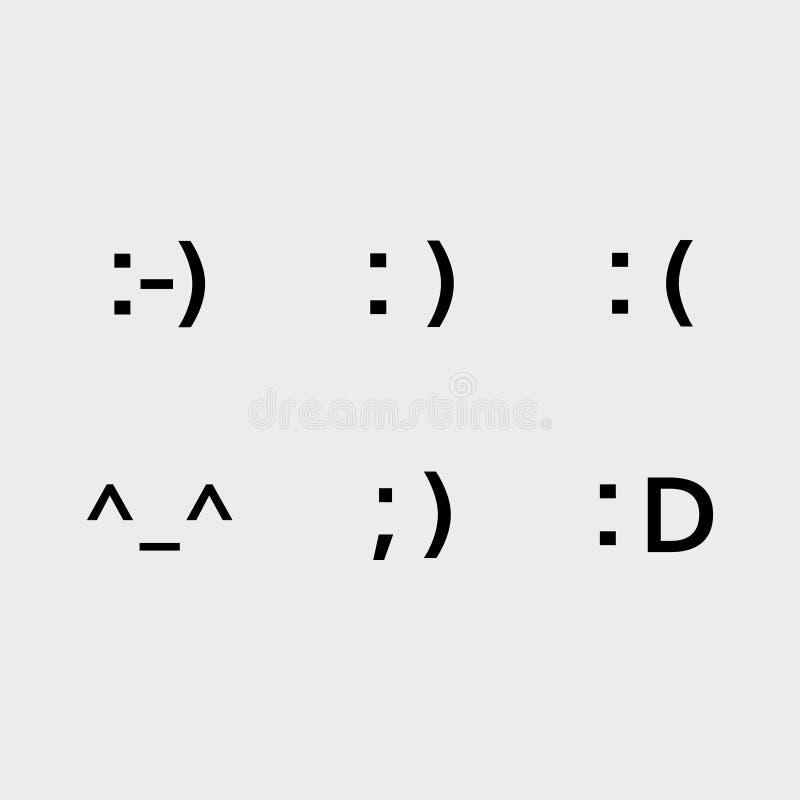 Icônes d'emoji de police illustration libre de droits