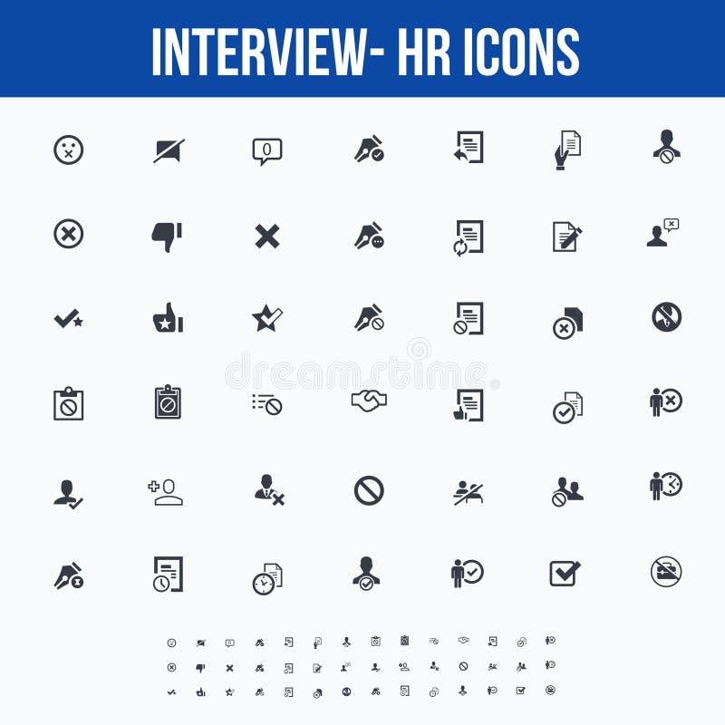 Icônes d'entrevue/ressources humaines pour le Web/écrans mobiles - partie illustration de vecteur
