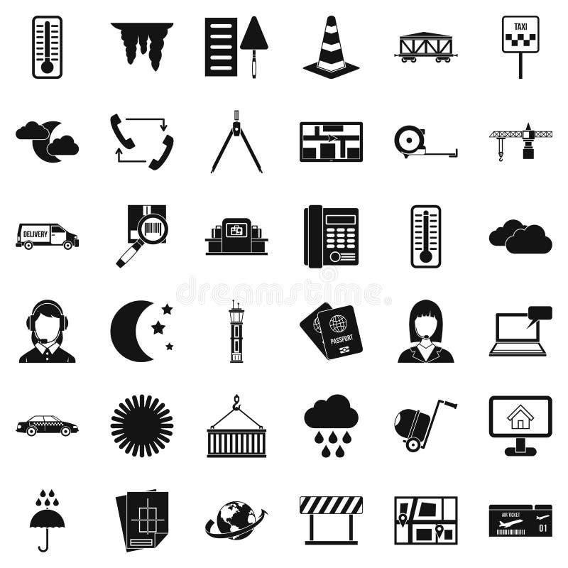 Icônes d'expéditeur de femme réglées, style simple illustration libre de droits