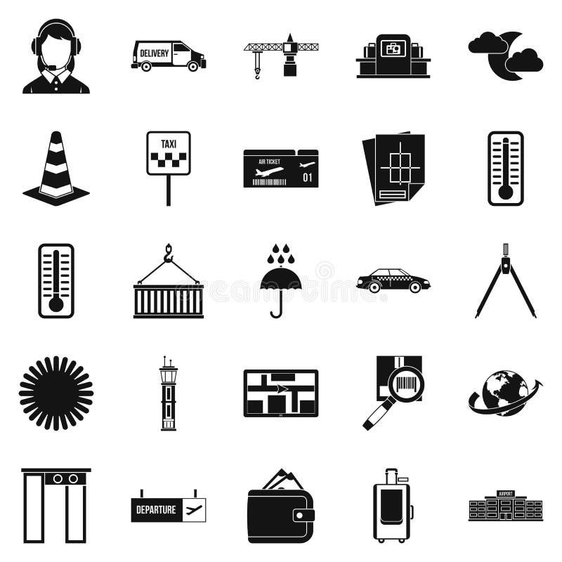 Icônes d'expéditeur réglées, style simple illustration libre de droits