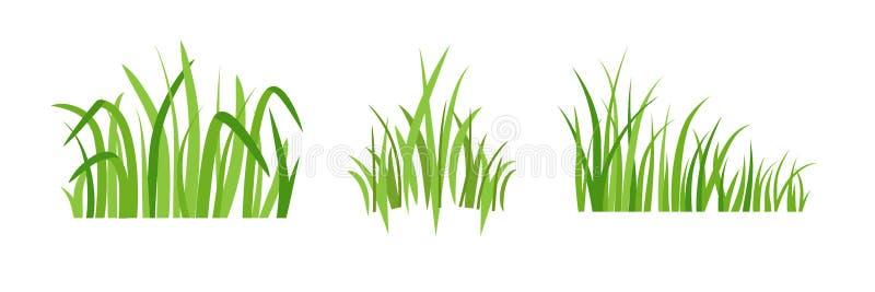 Icônes d'herbe verte d'Eco illustration stock