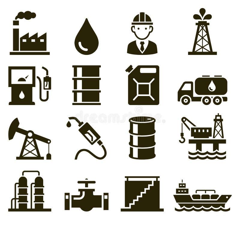 Icônes d'industrie pétrolière  Vecteur illustration stock