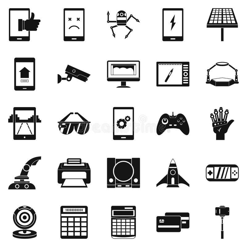 Icônes d'installation réglées, style simple illustration stock