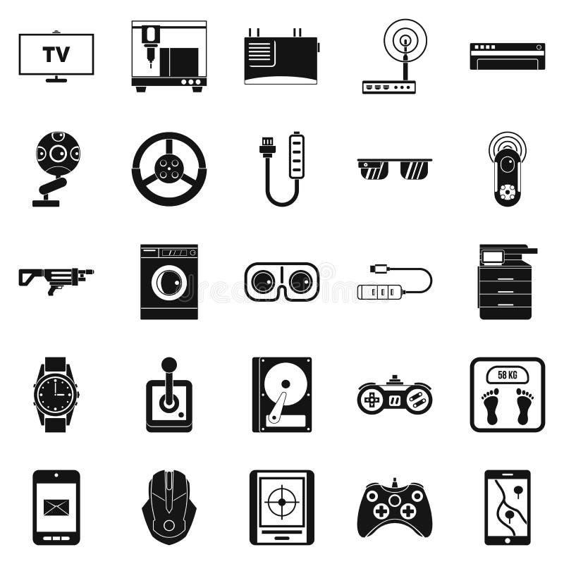 Icônes d'installation réglées, style simple illustration libre de droits