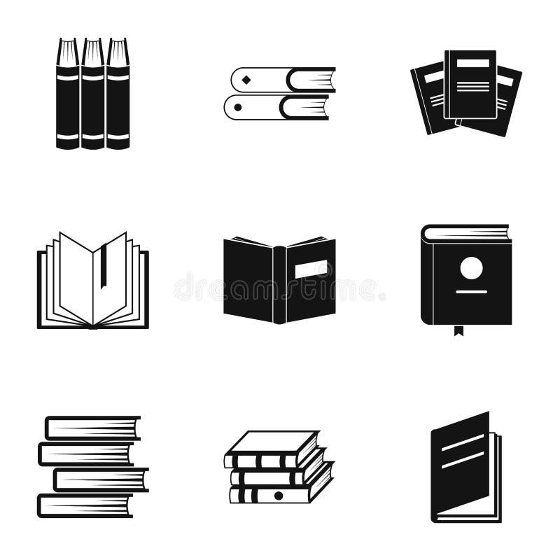 Icônes d'instruction réglées, style simple illustration de vecteur