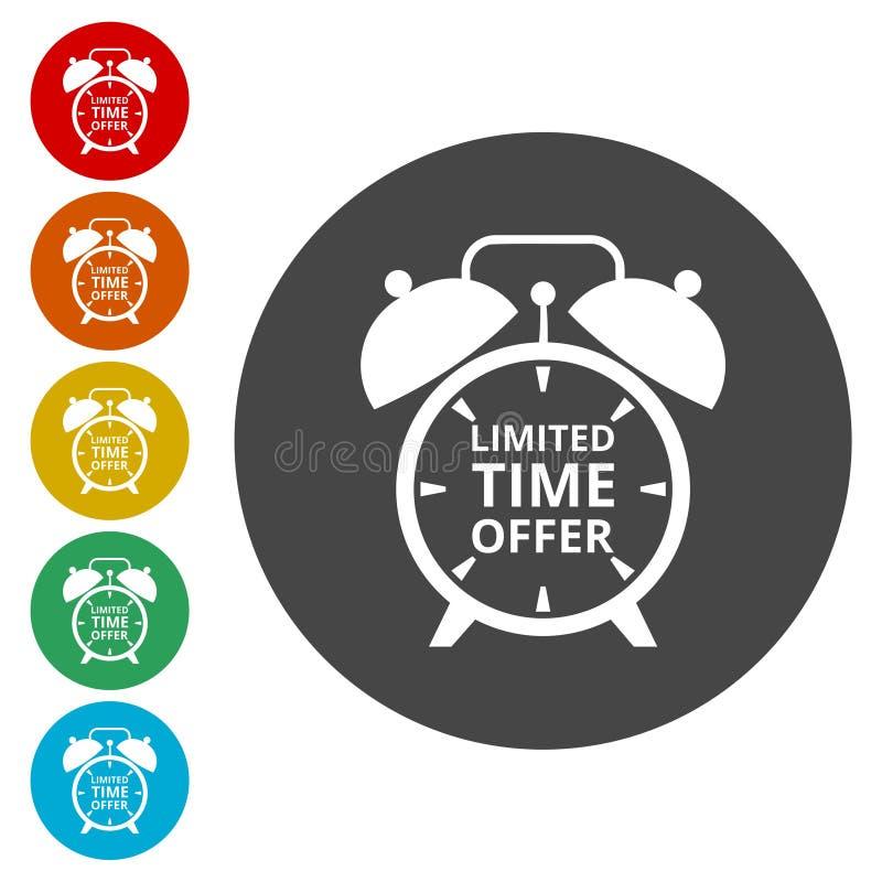 Icônes d'offre de temps limité réglées illustration libre de droits