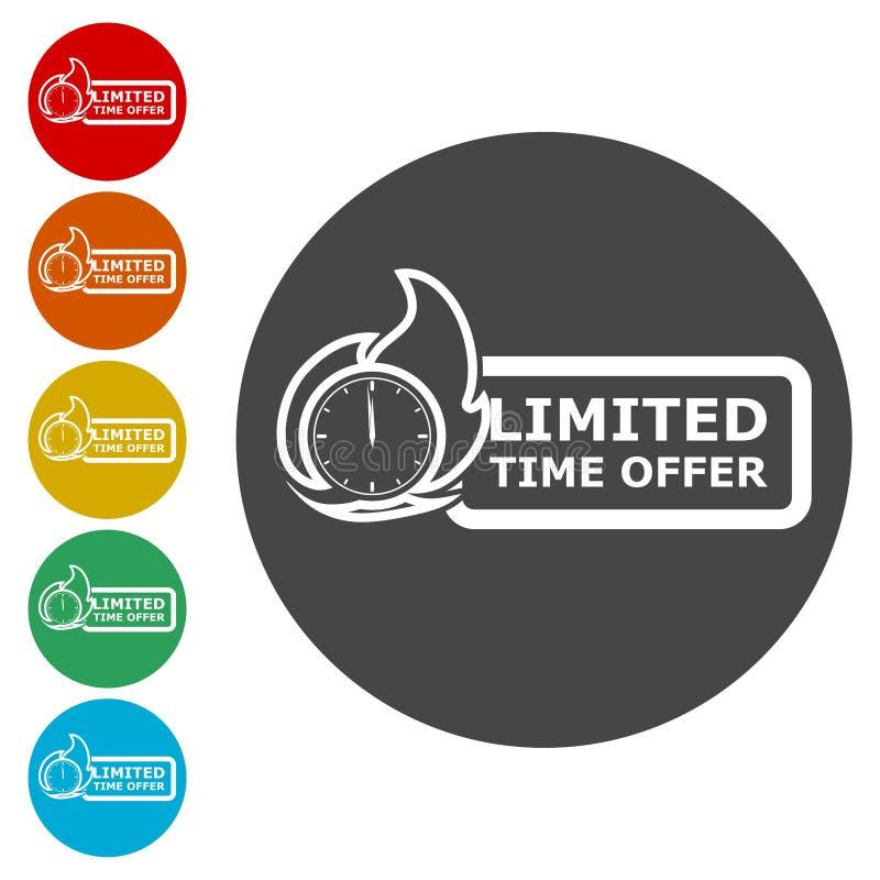 Icônes d'offre de temps limité réglées illustration stock