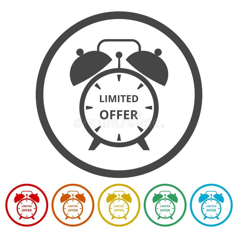 Icônes d'offre de temps limité réglées illustration de vecteur