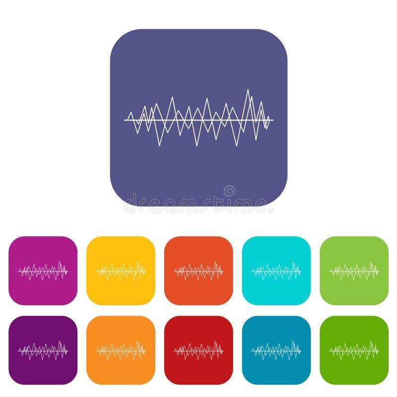 Icônes d'onde sonore réglées illustration libre de droits