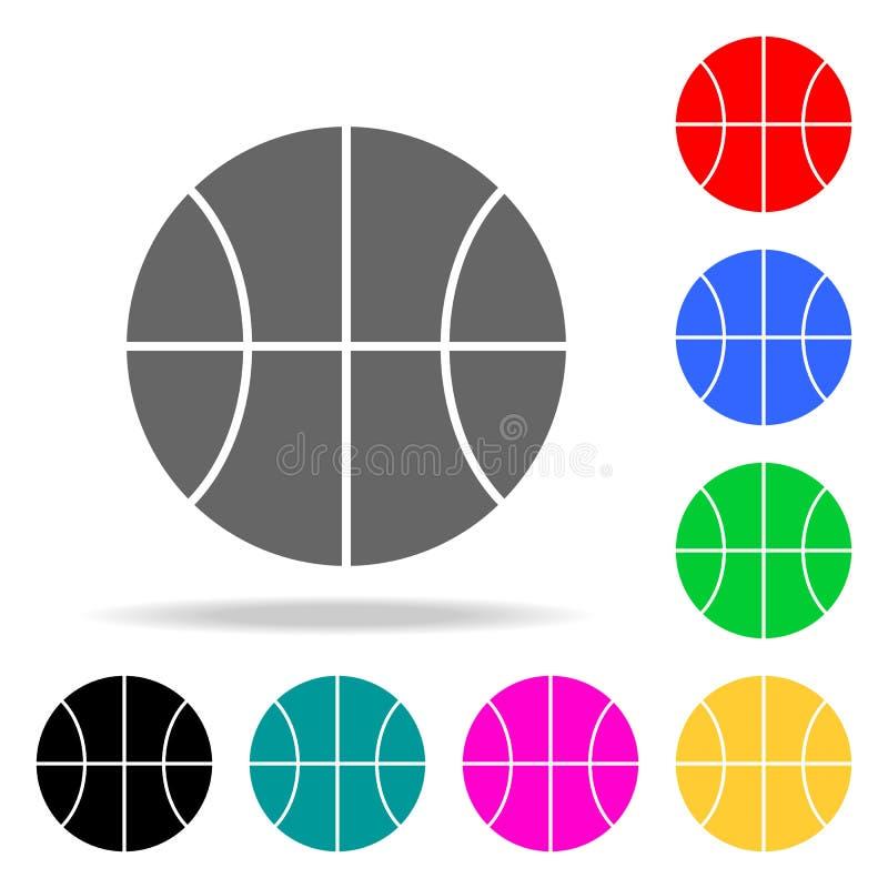 Icônes de basket-ball Éléments des icônes colorées par Web humain Icône de la meilleure qualité de conception graphique de qualit illustration libre de droits