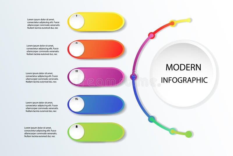 Icônes de blanc et de vente d'illustration de vecteur de conception d'Infographic illustration libre de droits