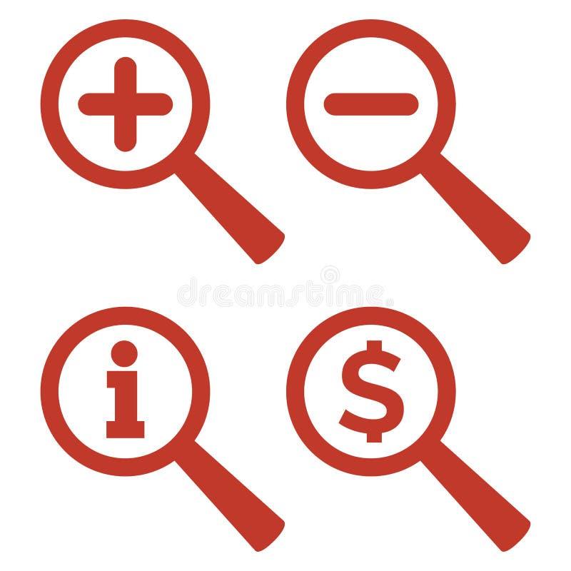 Icônes de bourdonnement réglées sur le fond blanc illustration stock