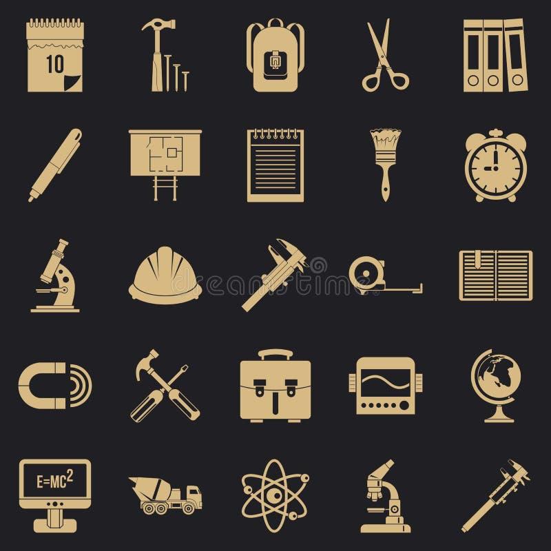 Icônes de boussole réglées, style simple illustration stock