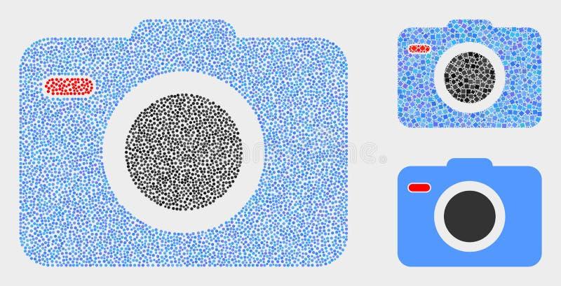 Icônes de caméra de photo de vecteur de pixel illustration stock