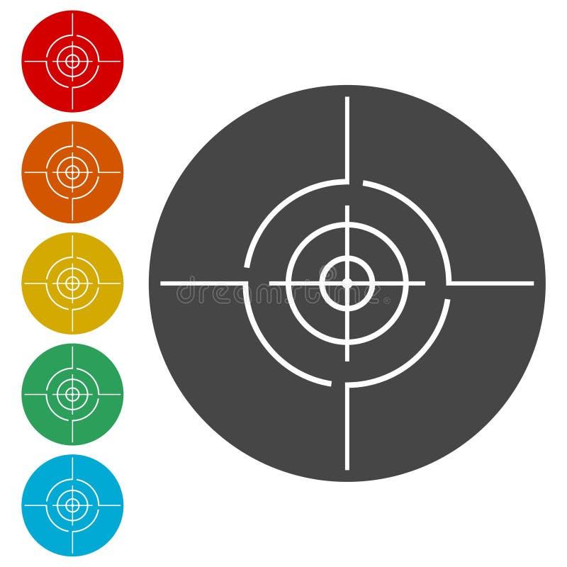 Icônes de cible de vecteur réglées illustration de vecteur