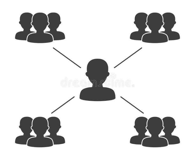 Icônes de connexion de personnes sur le fond blanc illustration libre de droits