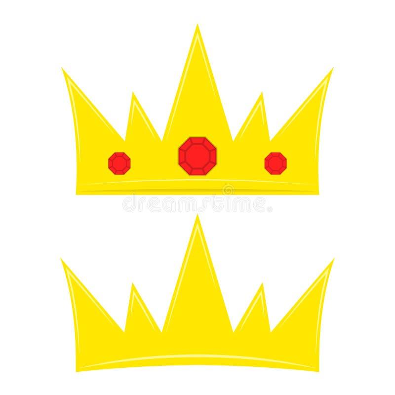 Icônes de couronne Illustration de vecteur illustration de vecteur