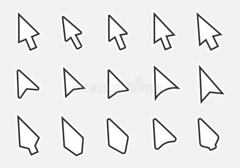 Icônes de curseur de souris illustration de vecteur