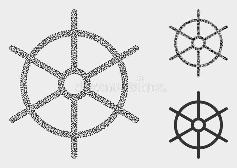 Icônes de Dot Vector Ship Rule Wheel illustration stock