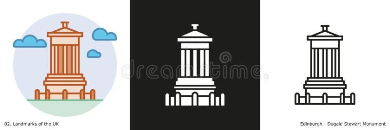 Icônes de Dugald Stewart Monument illustration libre de droits