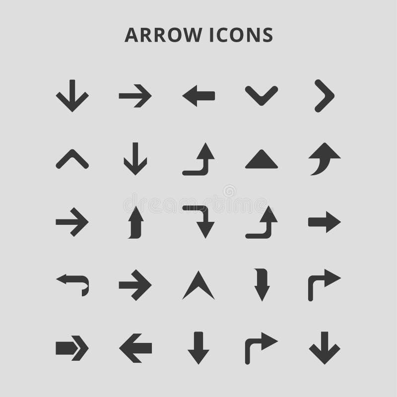 Icônes de flèche illustration stock