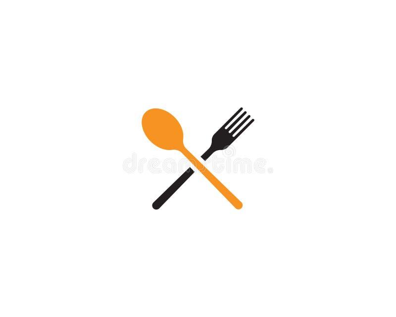 icônes de fourchette et de cuillère illustration de vecteur
