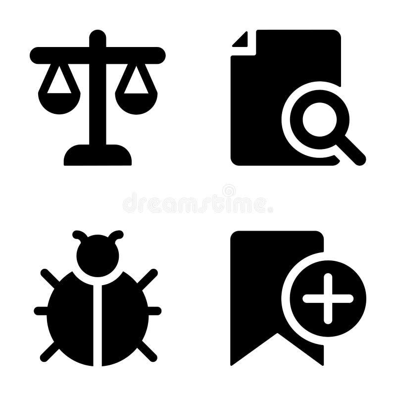 Icônes de Glyph d'interface illustration libre de droits