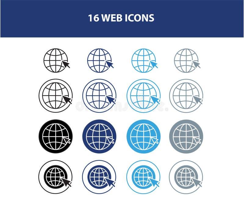 Icônes de l'information de contact de carte de visite professionnelle de visite illustration de vecteur
