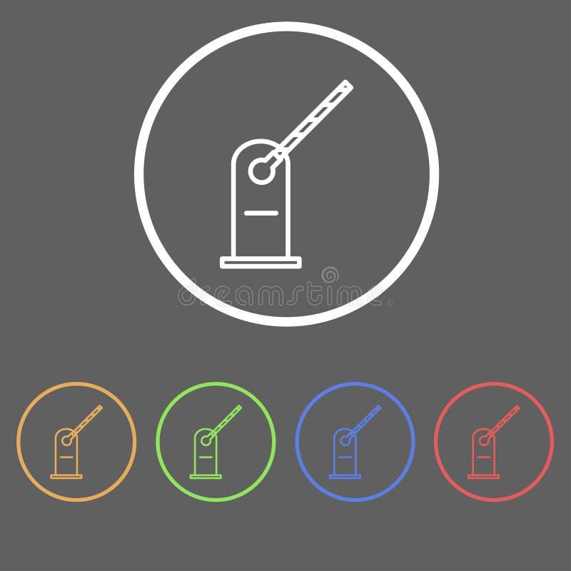 Icônes de la barrière illustration stock
